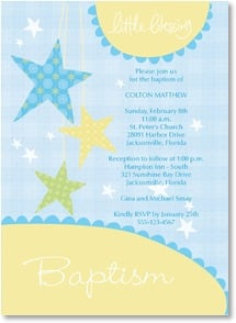 Baptism Invitation - Little Blessing | Intrinsic by Design® | 2001220-P | Leanin' Tree