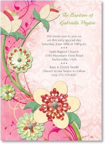 Baptism Invitation - Blossoming Blessings | Connie Haley | 2001222-P | Leanin' Tree