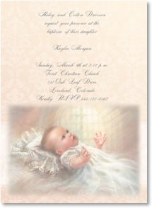 Baptism Invitation - Victorian Baroque | Kathy Fincher | 2001223-P | Leanin' Tree