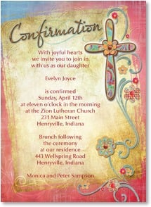 Confirmation Invitation - Joyful Ceremony | Connie Haley | 2001224-P | Leanin' Tree