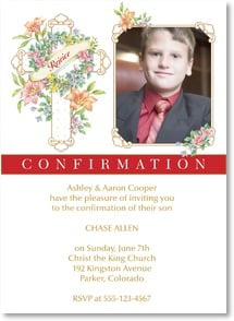 Confirmation Invitation - Please join us in rejoicing. | Designs by Current | 2001225-P | Leanin' Tree