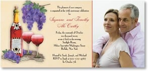 Anniversary Invitation - Celebrate, Drink and be Merry! | Connie Haley | 2001231-P | Leanin' Tree