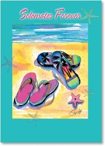 Anniversary Invitation - Solemates, Surf and Sandals | Anne Ormsby | 2001234-P | Leanin' Tree