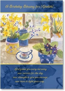 Birthday Card - New dreams to dreams; Psalm 85:12 | Judy Buswell | 2001273-P | Leanin' Tree