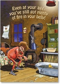 Birthday Card - And you vent hot air out both ends! | Ben Crane | 2001283-P | Leanin' Tree