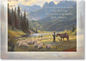 Sympathy Card - Safe and Secure in God's Care; Psalm 91: | Mark Keathley | 2001404-P | Leanin' Tree
