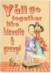 Anniversary Card - Biscuit Makin' & Bakin' | Boots Reynolds | 2001407-P | Leanin' Tree