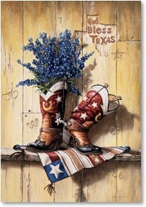 Anytime Wish for You Card - God Bless Texas and You! | Lisa Danielle | 2001422-P | Leanin' Tree