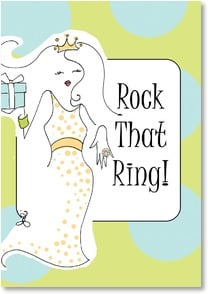 Congratulations Bride-to-Be Card - Congratulations to the Bride! | Working Girls Design, Inc. | 2001426-P | Leanin' Tree
