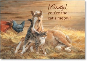 Birthday Card - You're the cat's meow! | Persis Clayton Weirs | 2001442-P | Leanin' Tree