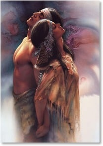 Love &amp; Romance Card - My world becomes heaven! | Lee Bogle | 2001468-P | Leanin' Tree