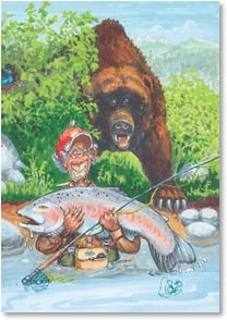 Birthday Card - The bigger the fish... | Boots Reynolds | 2001484-P | Leanin' Tree