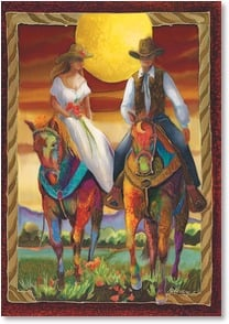 Wedding Card - Many Happy Trails | Nancy Dunlop Cawdrey | 2001495-P | Leanin' Tree