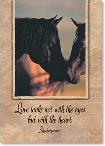 Love & Romance Card - 'Love looks not with the eyes but with the heart.' | David R. Stoecklein | 2001500-P | Leanin' Tree