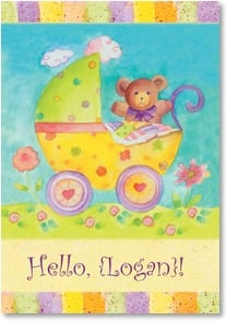 Welcome Baby Card - Welcome to the World, Baby | Sue Zipkin | 2001502-P | Leanin' Tree