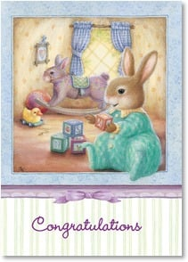 Baby Congratulations Card - The fun has only just begun! | Susan Wheeler | 2001507-P | Leanin' Tree