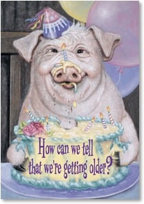 Birthday Card - By the hair on our chinny-chin-chins!  | Joy Campbell | 2001556-P | Leanin' Tree