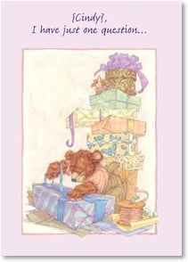 Birthday Card - How do you wrap a hug? - 2001585-P | Leanin' Tree