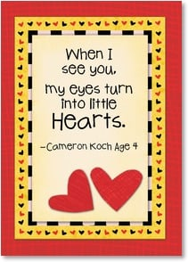 Valentine's Day Card - I've got hearts in my eyes over you | Kate Harper | 2001611-P | Leanin' Tree