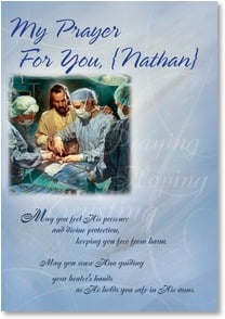 Care & Concern Card for Surgery - My Prayer For You: Exodus 15:26 | Nathan Greene | 2001622-P | Leanin' Tree