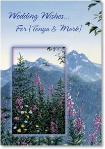 Wedding Card {Name} - Mountains of Joy on Your Wedding | Jeff Tift | 2001623-P | Leanin' Tree