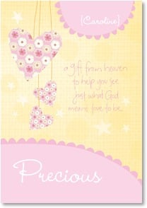 Baby Congratulations Card - Abounding Joy: Phillippians 1:9 | Intrinsic by Design® | 2001626-P | Leanin' Tree