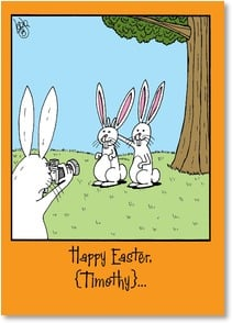 Easter Card - From one silly wabbit to another! | RUBES® Leigh Rubin | 2001651-P | Leanin' Tree