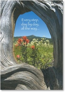 Encouragement & Support Card - In Thought & Prayer; Psalm 27:14 | Ron Dahlquist | 2001654-P | Leanin' Tree