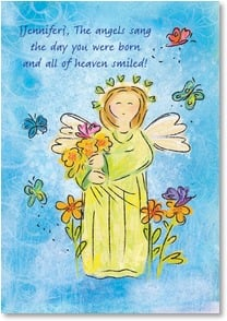 Birthday Card - Singing & Full of Joy; Psalm 128:5 | Bee Sturgis | 2001661-P | Leanin' Tree