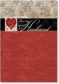 Valentine's Day Card - Staff Pick - My Husband, you are my dream come true. | Tim Coffey | 2001691-P | Leanin' Tree