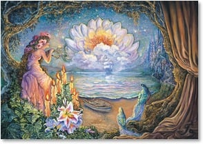 Thinking of You Card - On My Mind and In My Heart | Josephine Wall | 2001709-P | Leanin' Tree