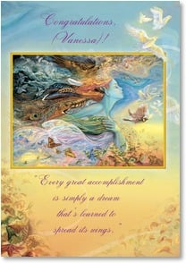 Graduation Card - Positive thoughts &amp; encouragement... | Josephine Wall | 2001725-P | Leanin' Tree