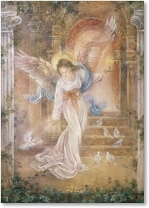 Anytime Wish for You Card - Guardian Angel | Lena Liu | 2001801-P | Leanin' Tree