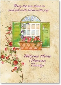 New Home Congratulations Card - Welcome Home! | Gail Flores | 2001822-P | Leanin' Tree