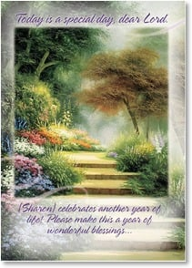 Birthday Card {Name} - Today is a special day, dear Lord; Philippians 4:19 | Egidio Antonaccio | 2001823-P | Leanin' Tree