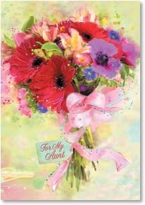 Birthday Card - Beautiful Flowers for a Beautiful Aunt | Connie Haley | 2001958-P | Leanin' Tree
