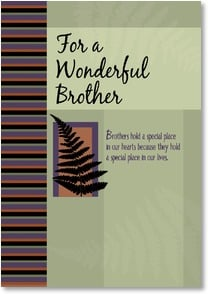Birthday Card - Brother - As a Brother, you're a Friend for Life | LT Studio | 2001966-P | Leanin' Tree