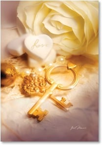 Congratulations Card - May the love you share be your key to happiness | Gail Marie&amp;reg; | 2002017-P | Leanin' Tree