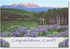 Congratulations Card - You've moved mountains to get where you are today! | John Fielder | 2002024-P | Leanin' Tree