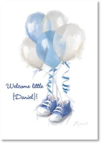 Baby Congrats - Boy - Welcome to Cutie in Booties | Richard Macneil | 2002053-P | Leanin' Tree
