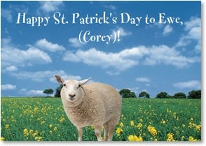 St. Patrick's Day Card - Have A Woolly Great Day! | Getty Images | 2002059-P | Leanin' Tree