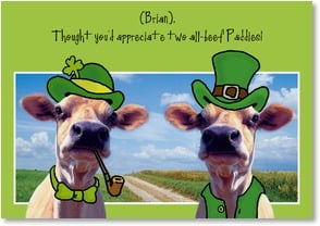 St. Patrick's Day Card - Happy St. Paddy's Day T'ye! | Fotosearch | 2002060-P | Leanin' Tree