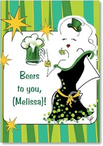 St. Patrick's Day Card - Happy St. Patrick's Day! | Working Girls Design, Inc. | 2002061-P | Leanin' Tree