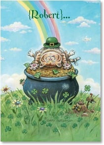 St. Patrick's Day Card - Hope You Find Your Pot of Gold Today! | Gary Patterson | 2002063-P | Leanin' Tree