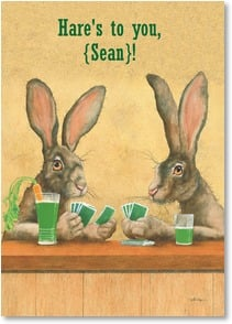 St. Patrick's Day Card - Wishing You the Luck of the Draw | Will Bullas | 2002064-P | Leanin' Tree
