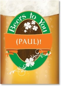 St. Patrick's Day Card - Beers to You! | LT Studio | 2002066-P | Leanin' Tree