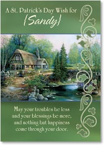St. Patrick's Day Card - May Nothing But Happiness Come Through Your Door | Sandy Bergeron | 2002067-P | Leanin' Tree