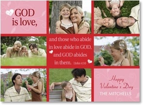 Valentine's Day Card - God is Love; 1 John 4:16 | LT Studio | 2002091-P | Leanin' Tree