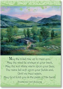 St. Patrick's Day Card - A Blessed St. Patrick's Day; Psalm 85:12 | Sandy Bergeron | 2002093-P | Leanin' Tree