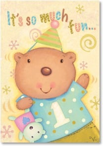 Birthday Card - To Be One! Happy Birthday! | Viv Eisner | 2002107-P | Leanin' Tree